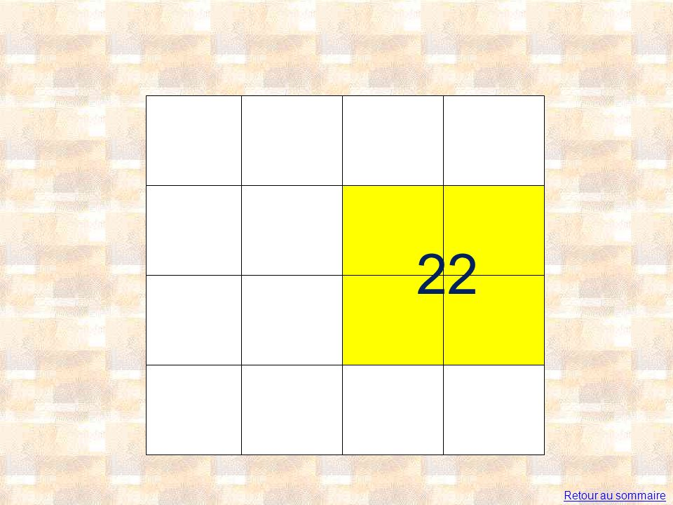 22 Retour au sommaire