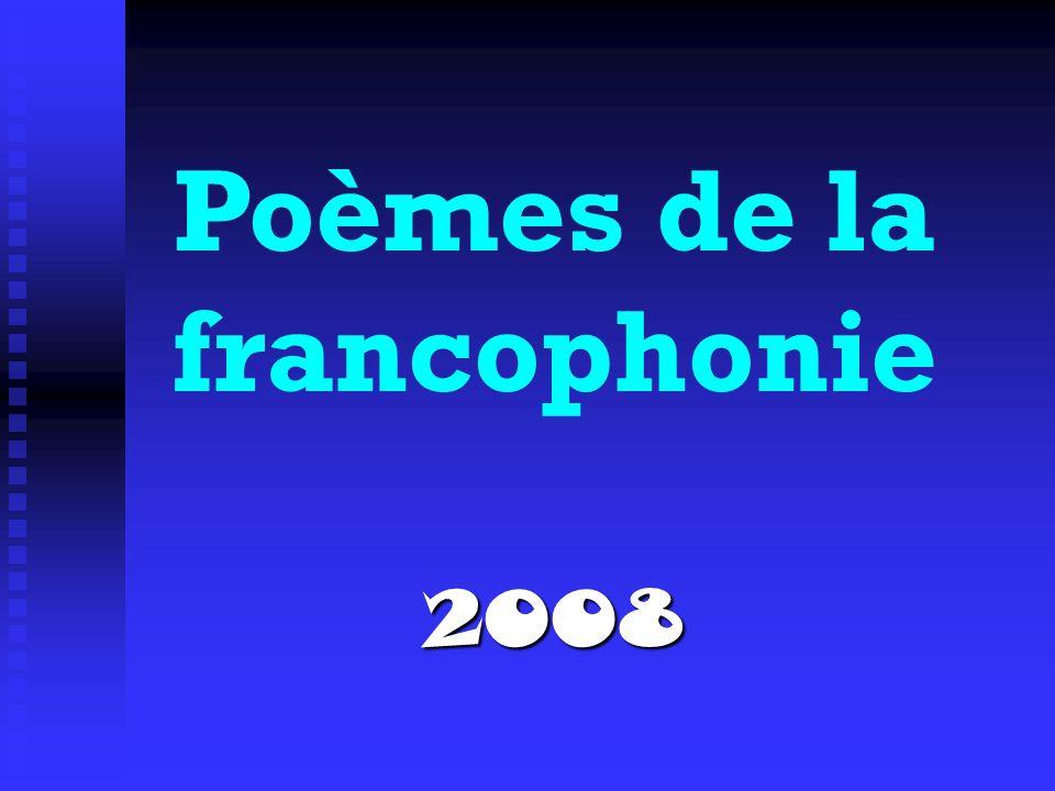 Poèmes de la francophonie2008