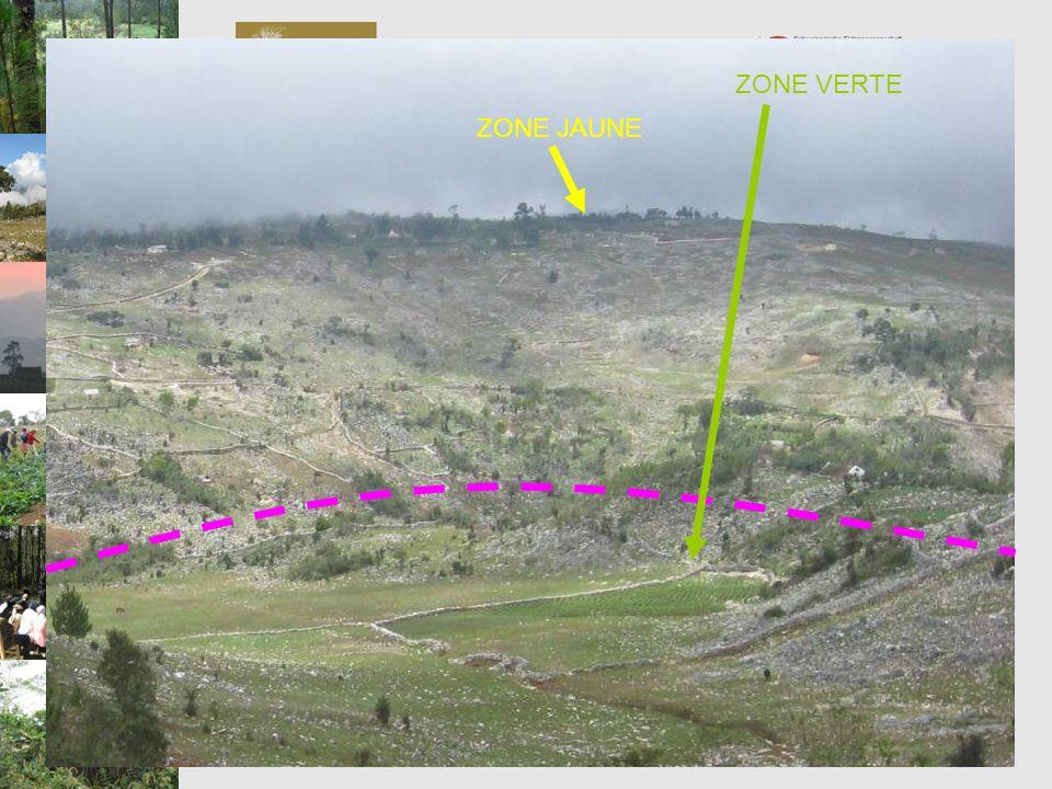 Programme de Préservation et de Valorisation de la Biodiversité PVB ZONE VERTE: zones excluant les zones marrons et rouges et où lagriculture et lélev