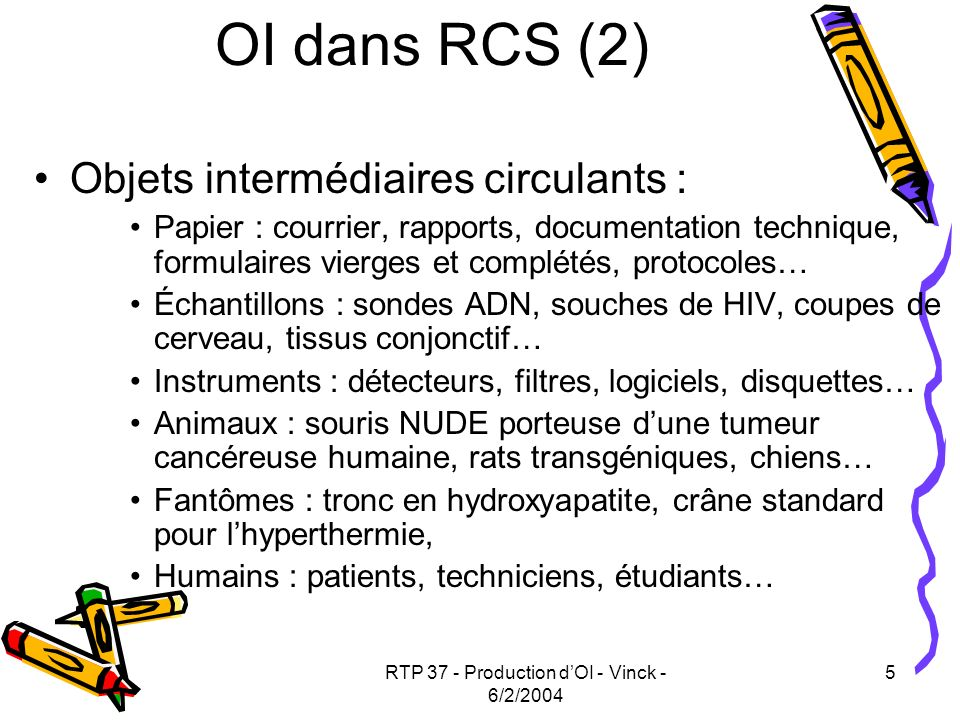RTP 37 - Production dOI - Vinck - 6/2/2004 16 Godjo, Thierry, C Marouz é, Jean-Fran ç ois Boujut, and F Giroux.