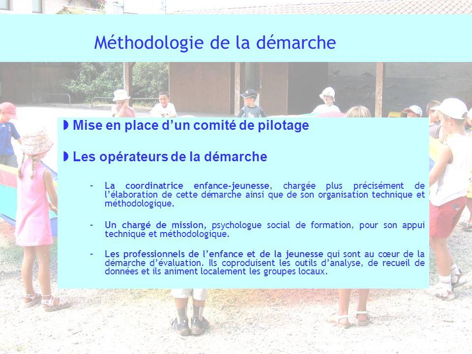 Méthodologie de la démarche Mise en place dun comité de pilotage Les opérateurs de la démarche –La coordinatrice enfance-jeunesse, chargée plus précis