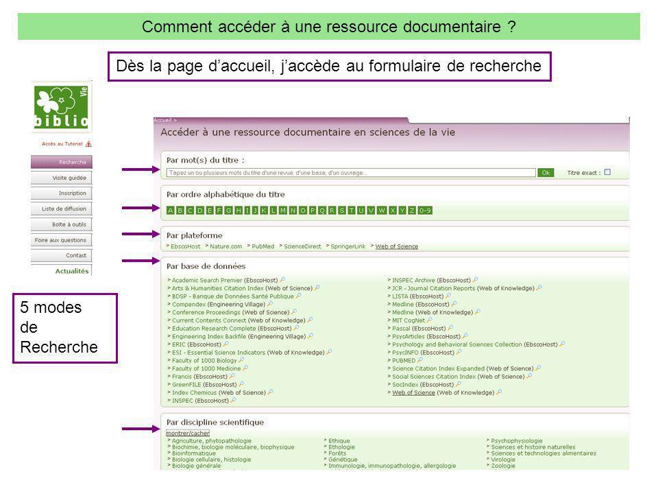 3 5 modes de Recherche Comment accéder à une ressource documentaire .
