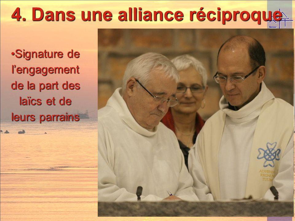 4. Dans une alliance réciproque Remise de la croix assomptionniste Remise de la croix assomptionniste