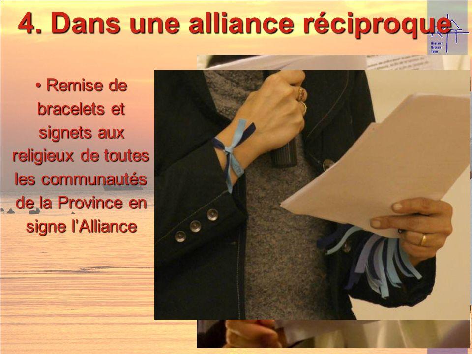 4. Dans une alliance réciproque Signature de lengagement de la part des laïcs et de leurs parrainsSignature de lengagement de la part des laïcs et de