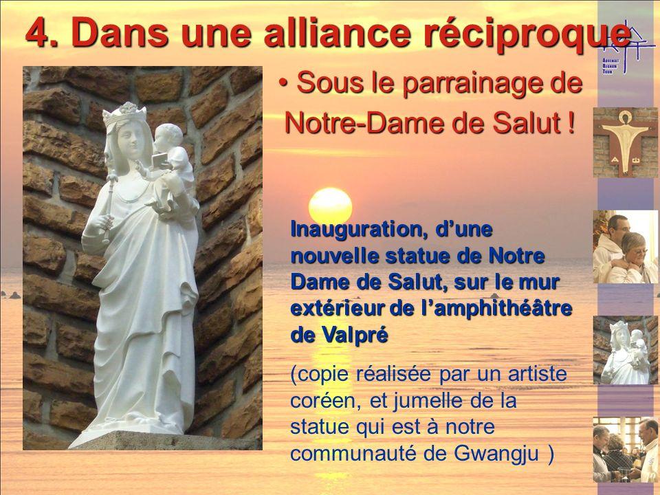 4. Dans une alliance réciproque Remise de bracelets et signets aux religieux de toutes les communautés de la Province en signe lAlliance Remise de bra