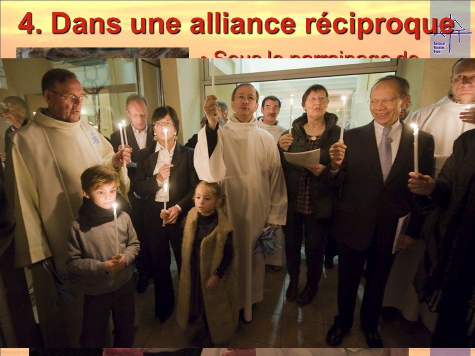 4. Dans une alliance réciproque Sous le parrainage de Notre-Dame de Salut ! Sous le parrainage de Notre-Dame de Salut ! Inauguration, dune nouvelle st