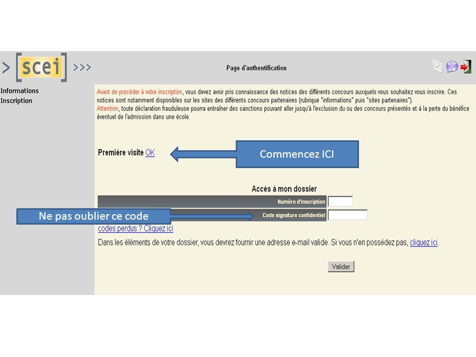 """Pr�sentation """"Concours fran�ais Inscription sur le site www.scei ..."""