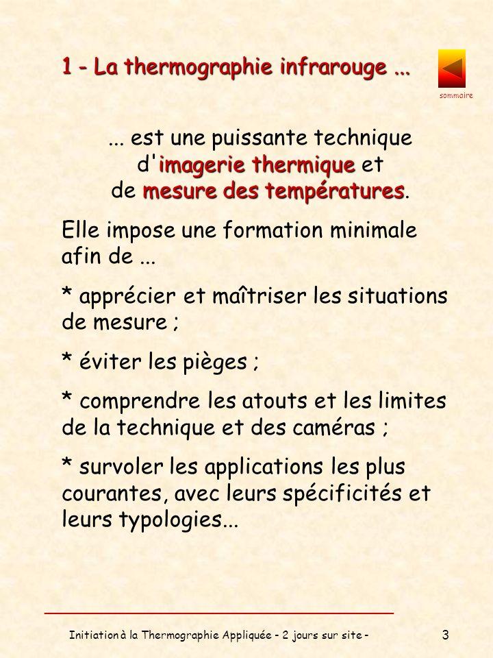 sommaire __________________________________ Initiation à la Thermographie Appliquée - 2 jours sur site - 4 2 - Les types de formation ...