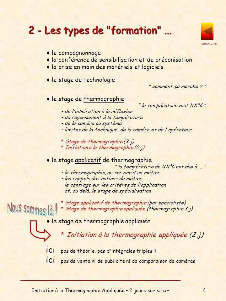 sommaire __________________________________ Initiation à la Thermographie Appliquée - 2 jours sur site - 5 3 - Contexte légal...