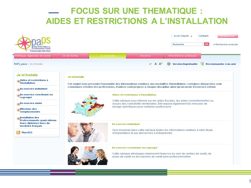 5 FOCUS SUR UNE THEMATIQUE : AIDES ET RESTRICTIONS A LINSTALLATION