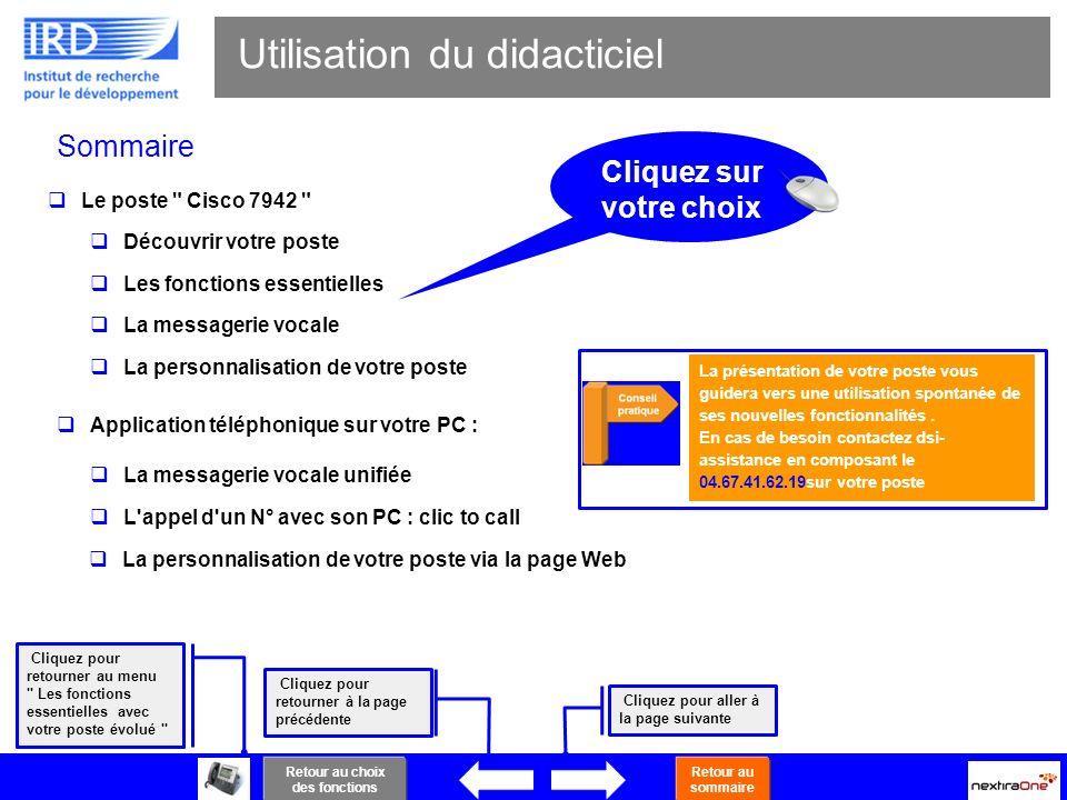 2 Sommaire Utilisation du didacticiel Cliquez pour retourner au menu
