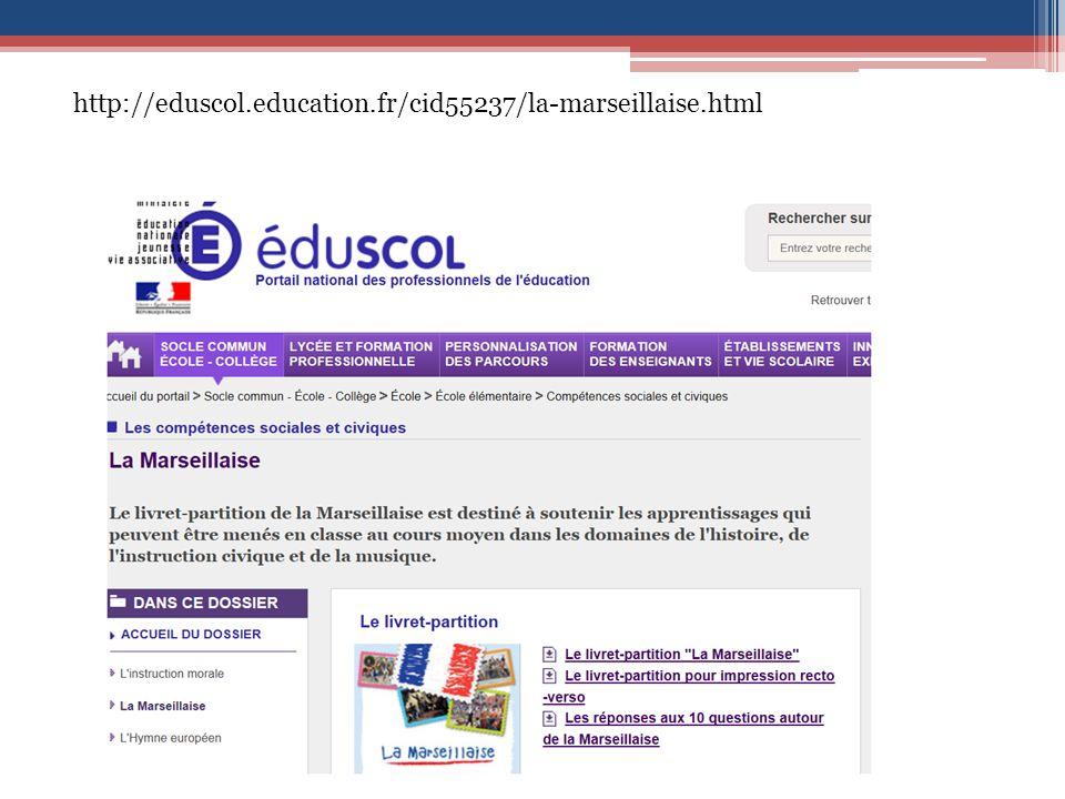 http://eduscol.education.fr/cid55237/la-marseillaise.html