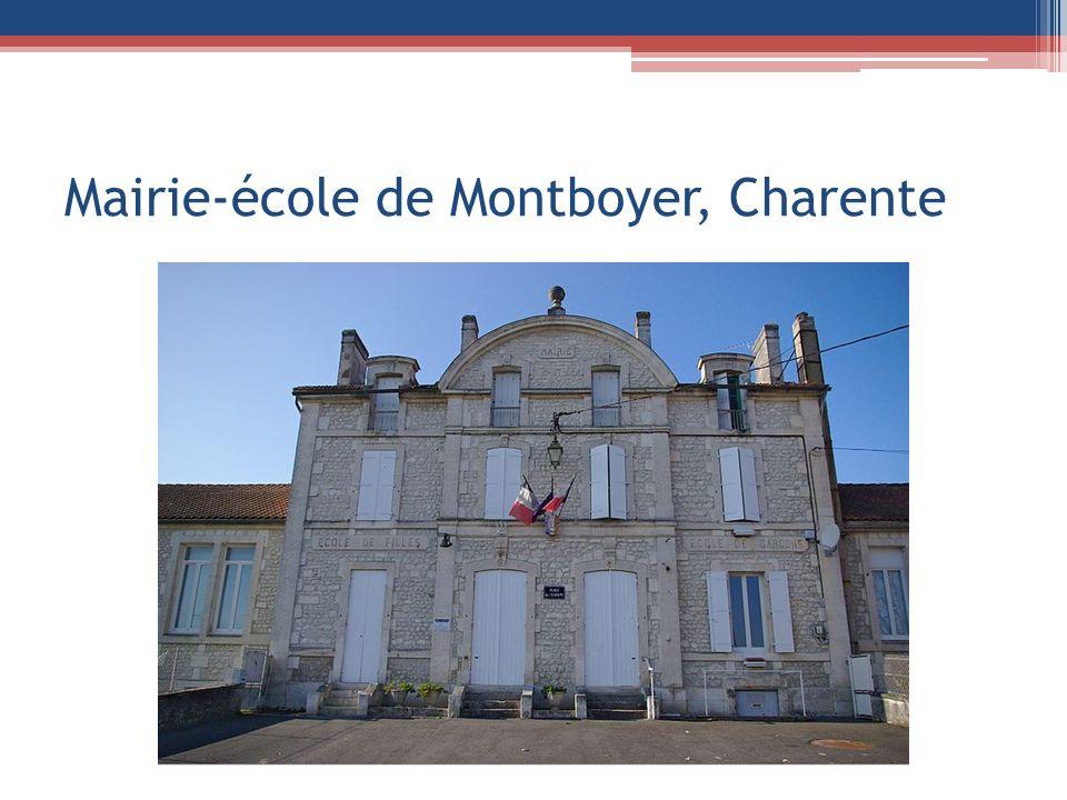 Mairie-école de Montboyer, Charente