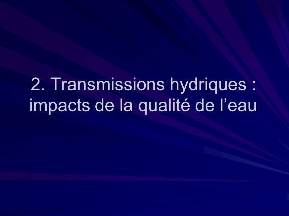 2. Transmissions hydriques : impacts de la qualité de leau
