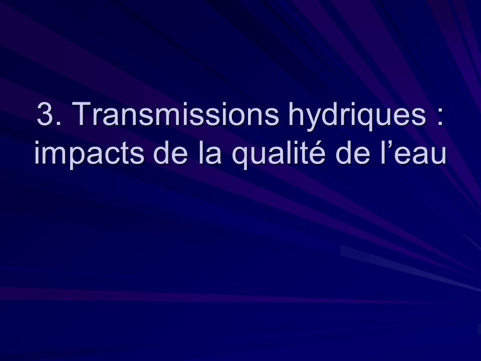 3. Transmissions hydriques : impacts de la qualité de leau