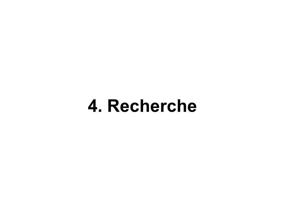 4. Recherche