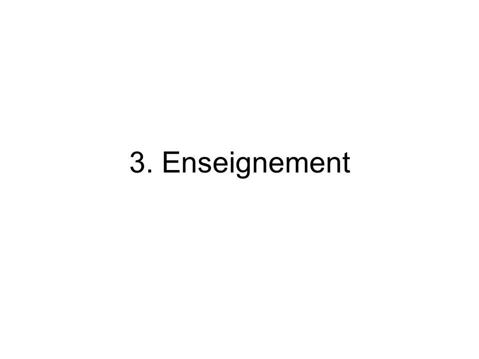 3. Enseignement