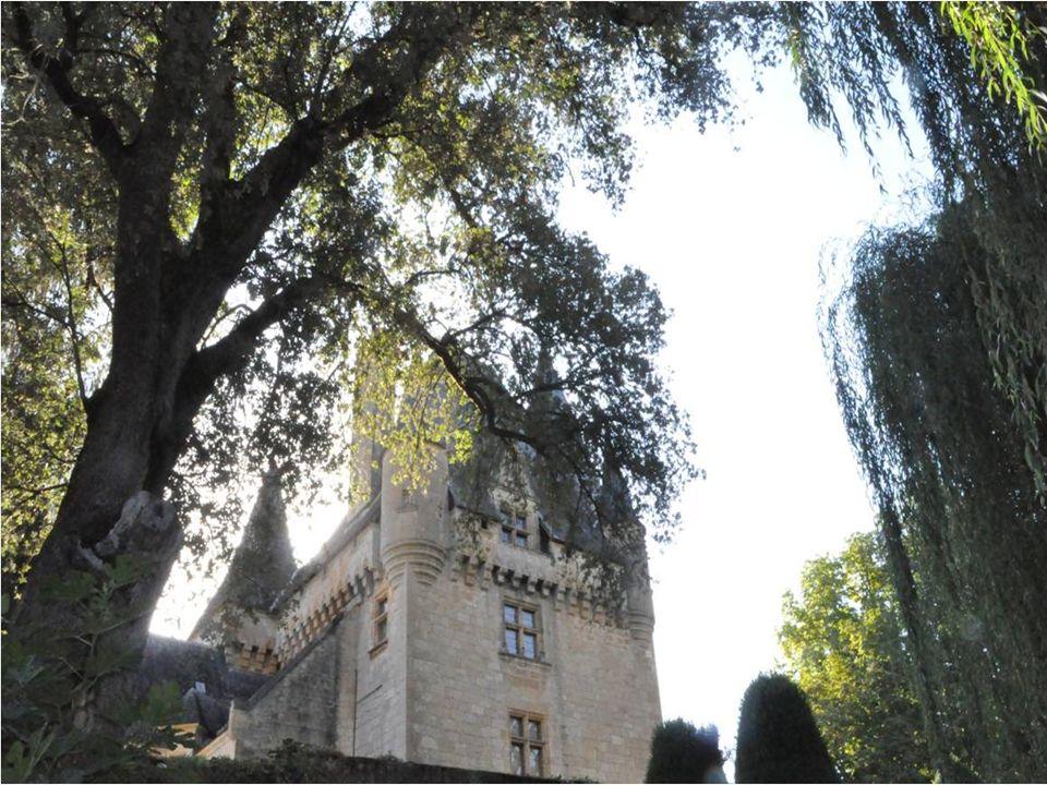 Construit au 16 ième siècle le svelte château de Clérans Dresse une belle tour descaliers polygonale, Des pointes de tourelles dangles et des frontons de plusieurs lucarnes.