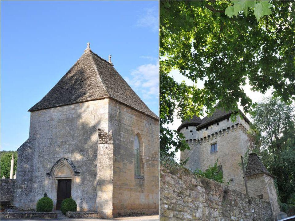 La chapelle expiratoire à une porte à ouverture rectangulaire, aux angles supérieurs arrondis, est à nervures prismatiques avec moulures à pénétrations.