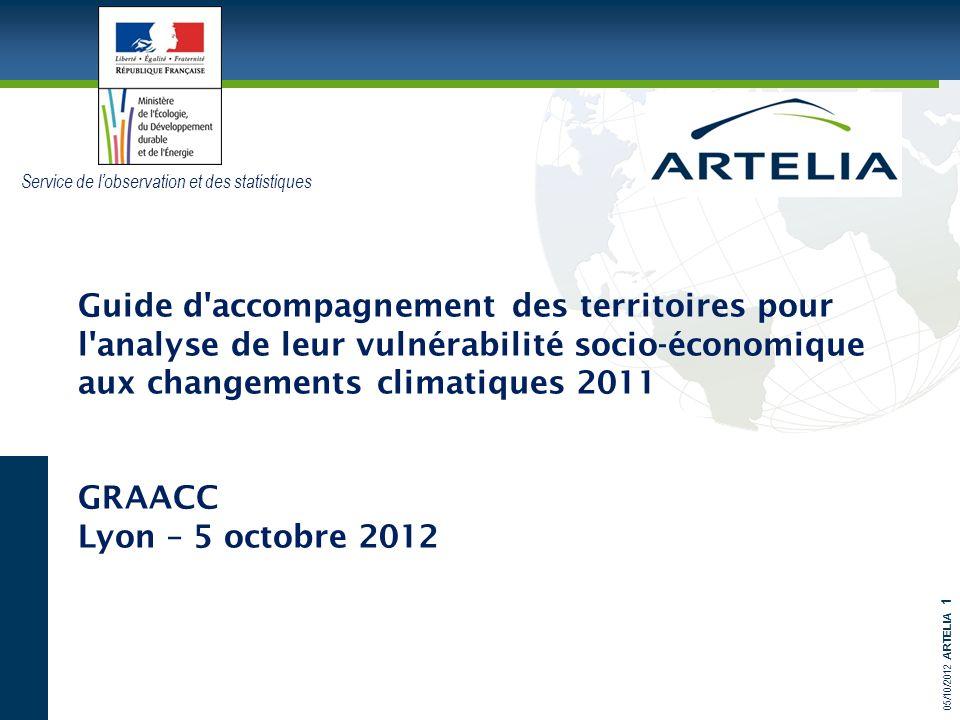 05/10/2012 ARTELIA 1 Guide d'accompagnement des territoires pour l'analyse de leur vulnérabilité socio-économique aux changements climatiques 2011 GRA