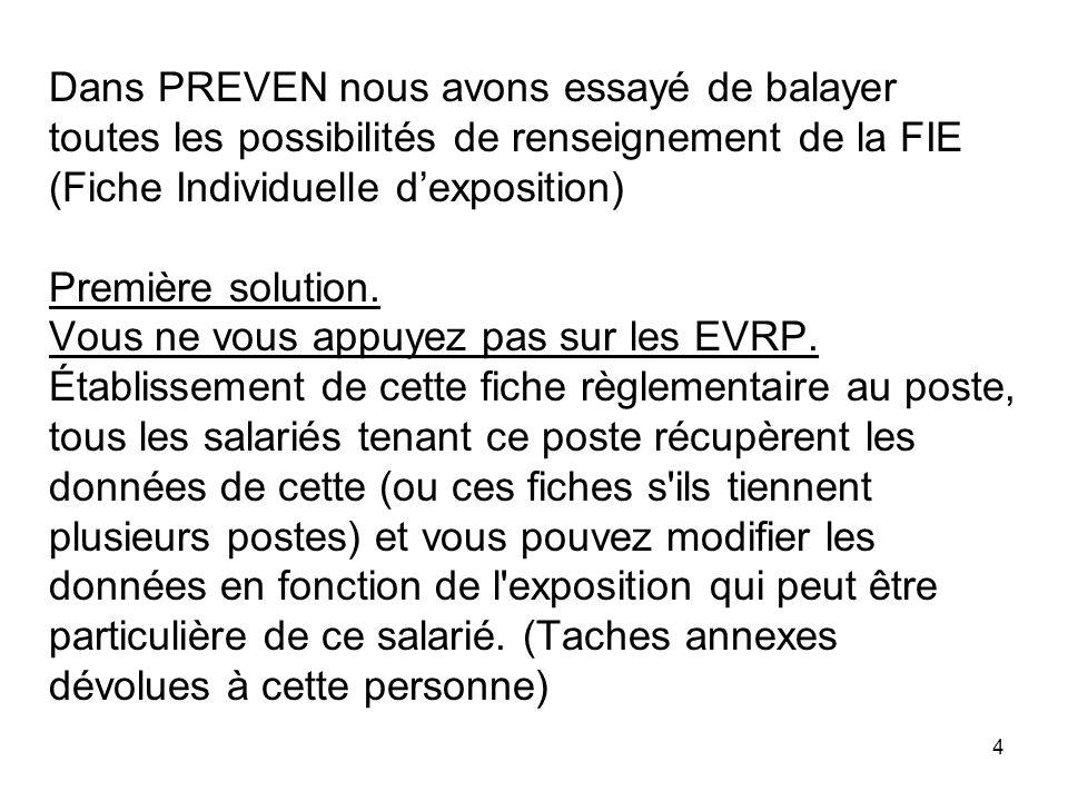 5 Deuxième solution.Vous vous appuyez sur les EVRP.