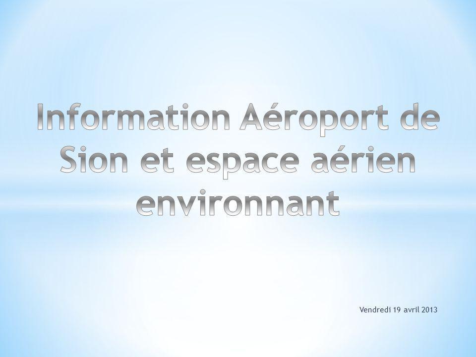1.Généralités sur lespace aérien Suisse 2. Espace aérien autour de Sion 3.