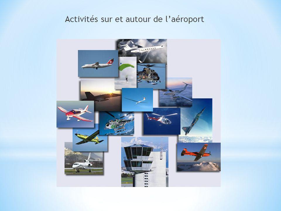 Activités sur et autour de laéroport