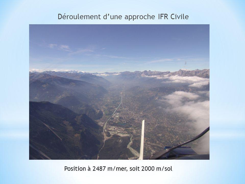 Déroulement dune approche IFR Civile Position à 2487 m/mer, soit 2000 m/sol
