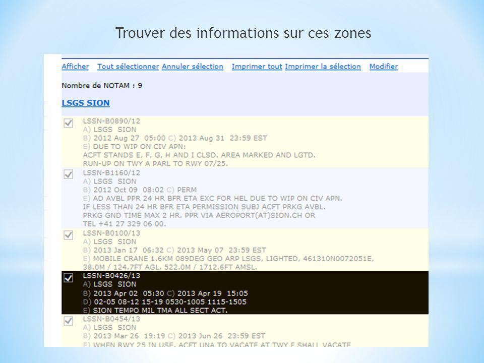 Les détails dune publication donnée sont disponibles également sur http://notamweb.aviation-civile.gouv.fr/http://notamweb.aviation-civile.gouv.fr/ sous la rubrique NOTAM nommés LSSN est le code de lémetteur, en loccurrence la Suisse