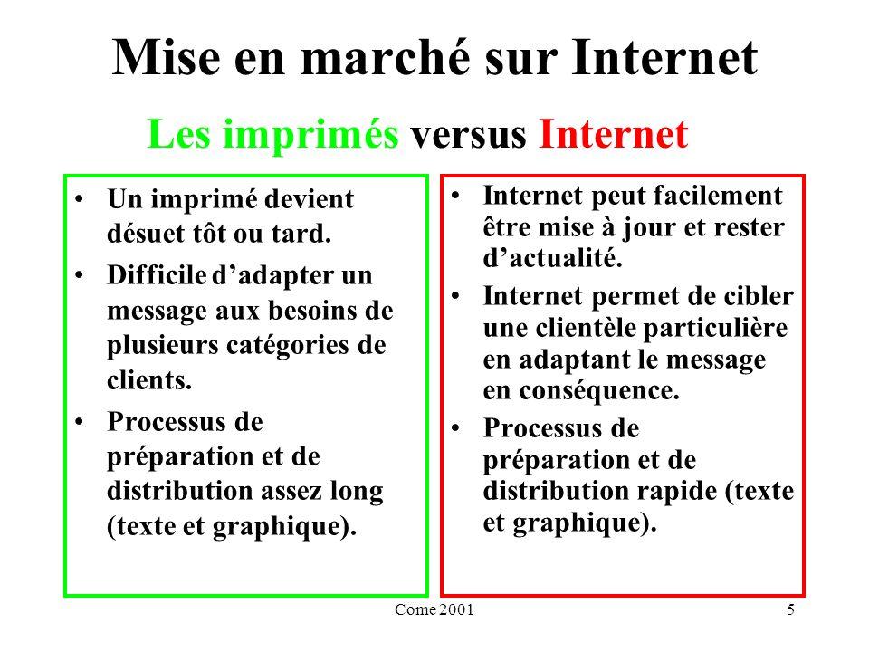 Come 20015 Mise en marché sur Internet Un imprimé devient désuet tôt ou tard.