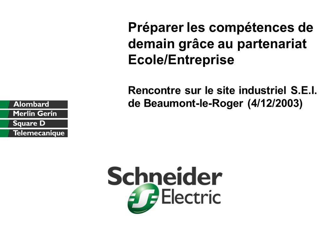 Préparer les compétences de demain grâce au partenariat Ecole/Entreprise Rencontre sur le site industriel S.E.I.