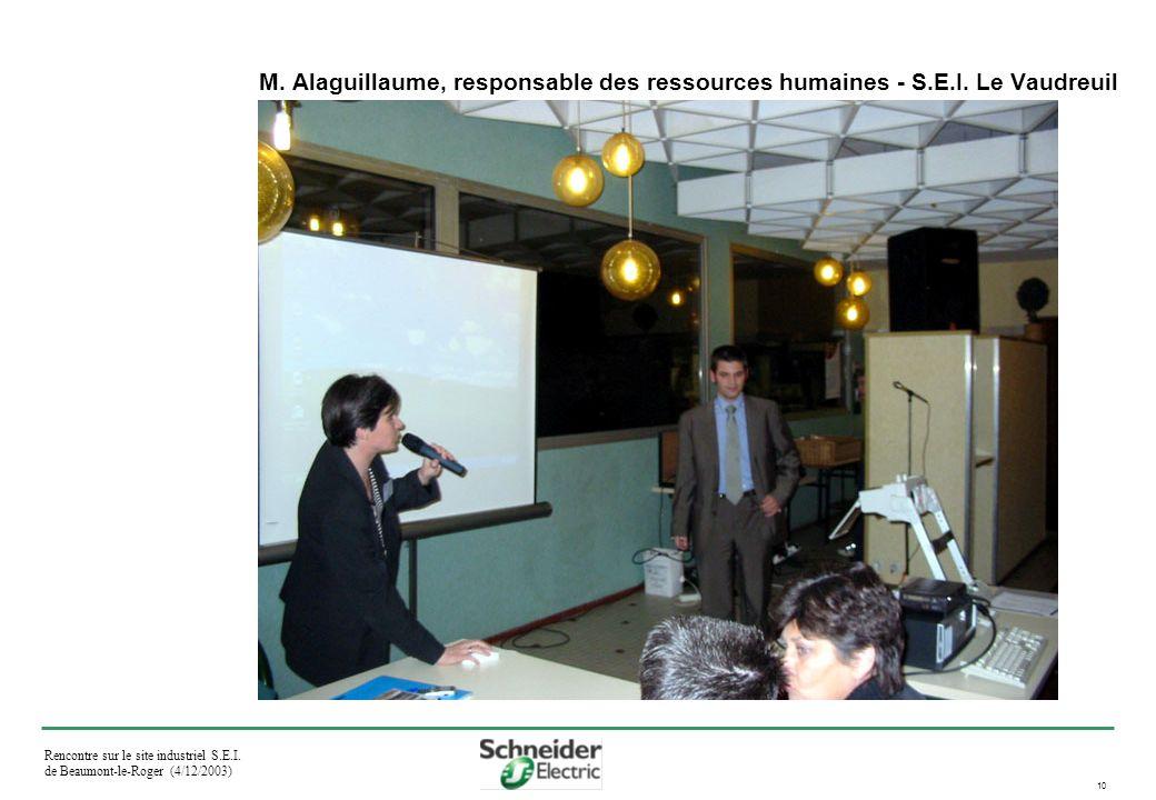 Rencontre sur le site industriel S.E.I. de Beaumont-le-Roger (4/12/2003) 10 M.