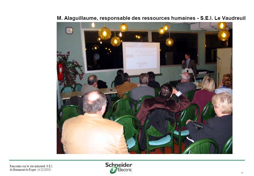 Rencontre sur le site industriel S.E.I. de Beaumont-le-Roger (4/12/2003) 11 M.