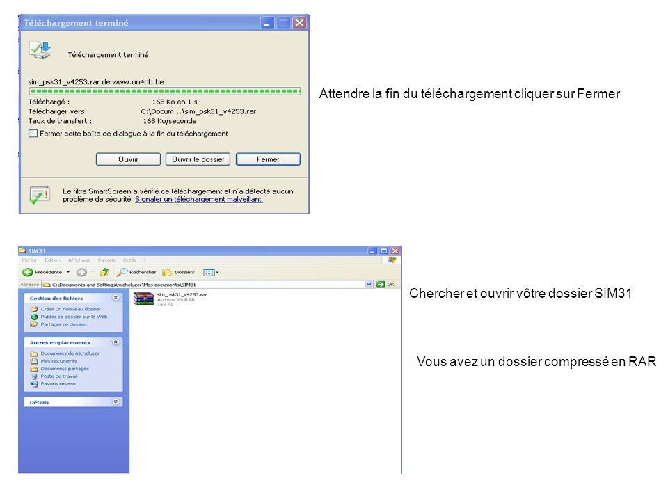 Si vous possédez un logiciel de décompression Clique droit sur le dossier qui ouvre un menu Puis clique gauche sur Extraire ici Si vous nen possédez pas il y en a un sur le site de ON4NB Après décompression vous devriez avoir ceci