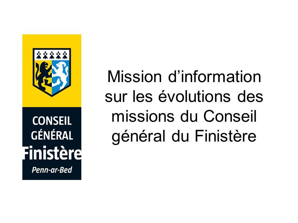 Mission dinformation sur les évolutions des missions du Conseil général du Finistère