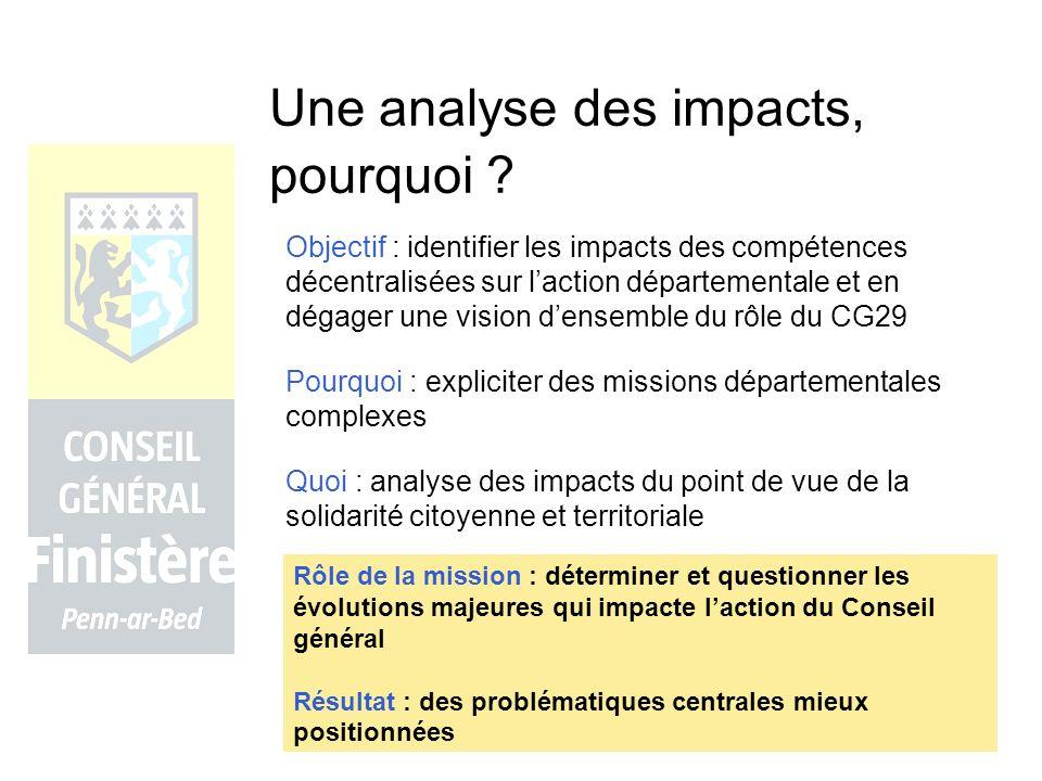 Une analyse des impacts, pourquoi .