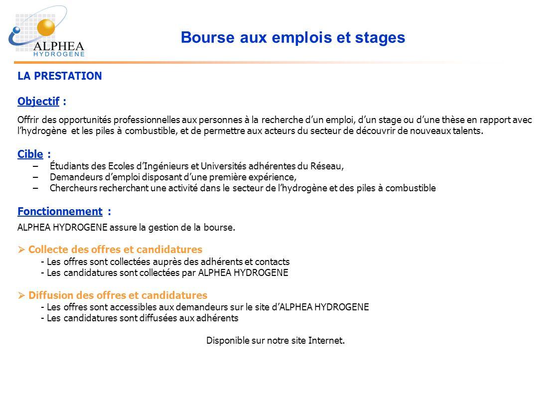 Bourse aux emplois et stages LA PRESTATION Objectif : Offrir des opportunités professionnelles aux personnes à la recherche dun emploi, dun stage ou d