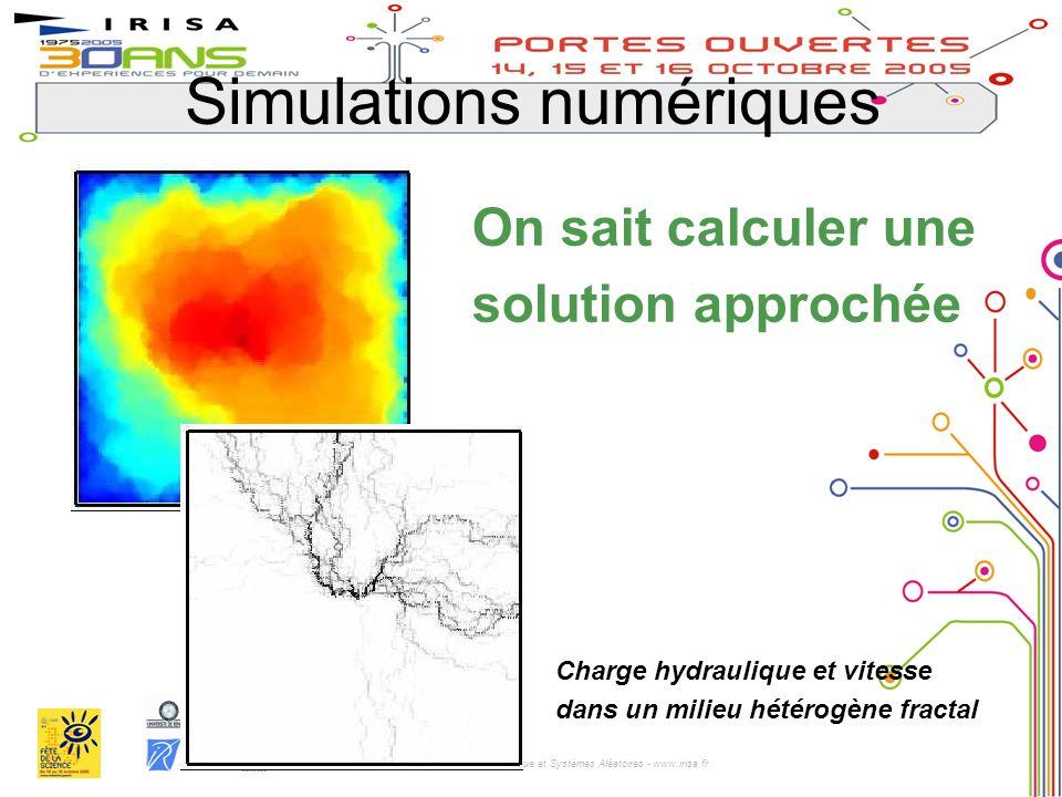 IRISA - Institut de Recherche en Informatique et Systèmes Aléatoires - www.irisa.fr On sait calculer une solution approchée Charge hydraulique et vite