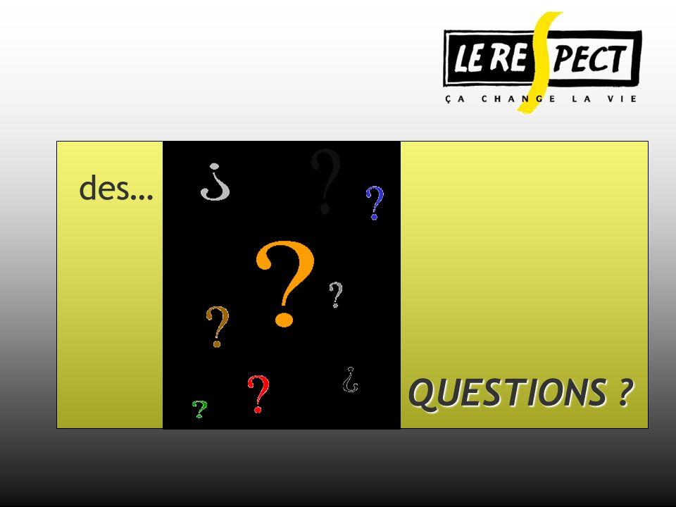 QUESTIONS ? des…