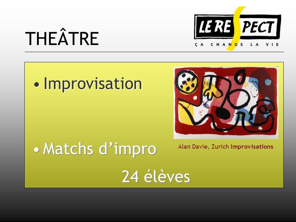 THEÂTRE Improvisation Matchs dimpro 24 élèves Alan Davie, Zurich Improvisations