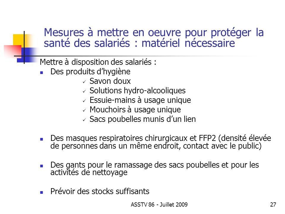 Mettre à disposition des salariés : Des produits dhygiène Savon doux Solutions hydro-alcooliques Essuie-mains à usage unique Mouchoirs à usage unique