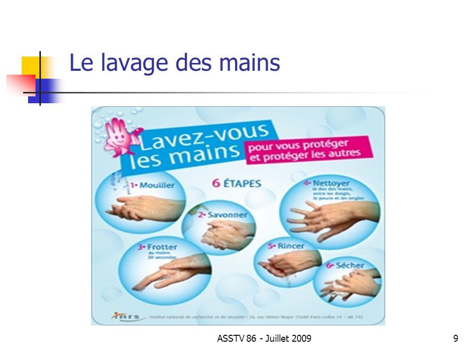 Le lavage des mains 9ASSTV 86 - Juillet 2009