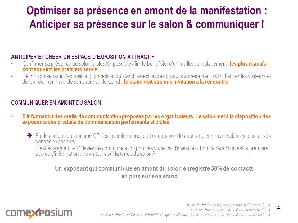 4 Optimiser sa présence en amont de la manifestation : Anticiper sa présence sur le salon & communiquer .