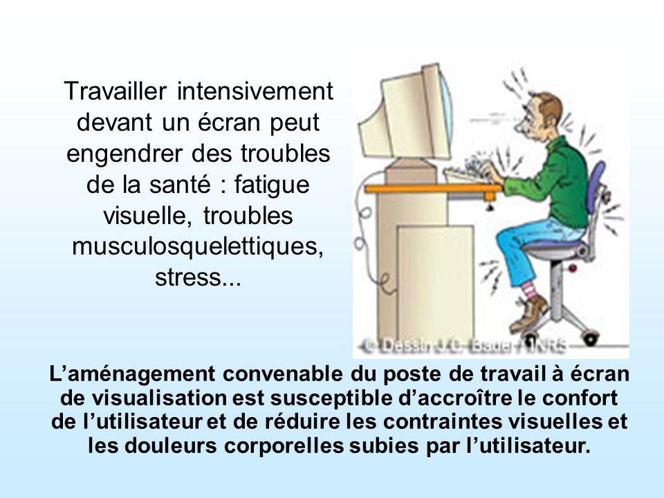Travailler intensivement devant un écran peut engendrer des troubles de la santé : fatigue visuelle, troubles musculosquelettiques, stress...