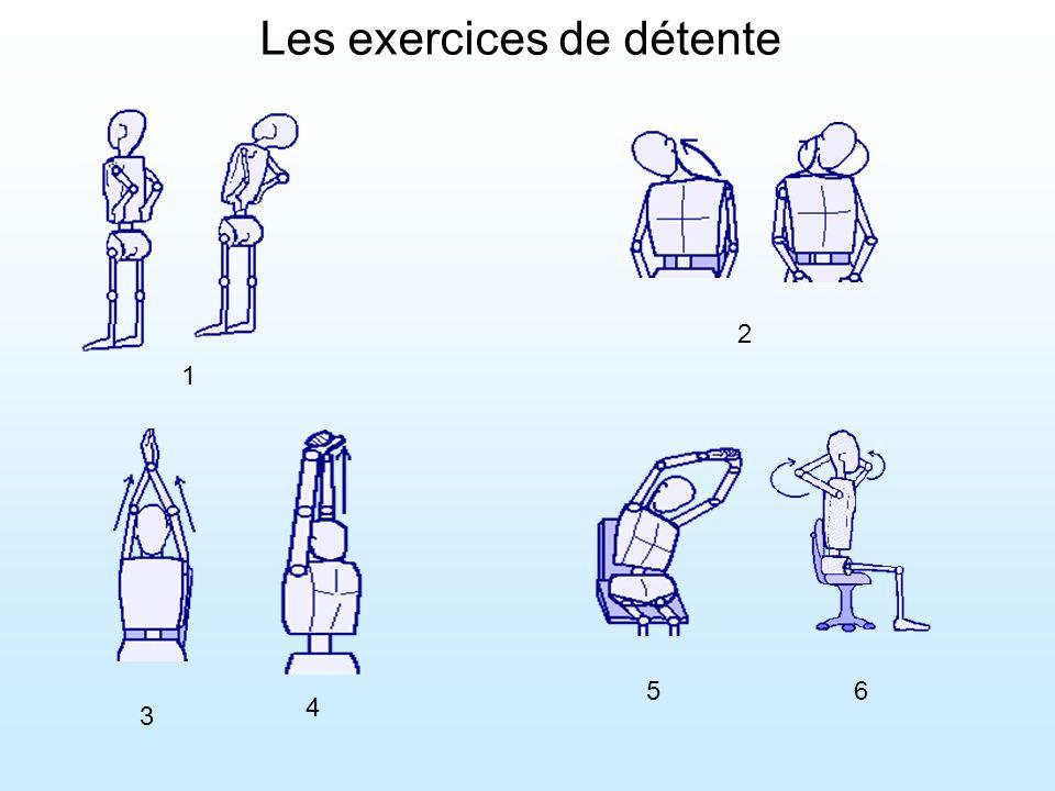 Les exercices de détente 1 2 3 4 56