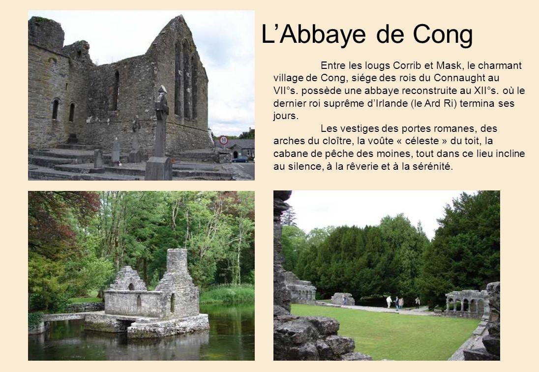LAbbaye de Cong Entre les lougs Corrib et Mask, le charmant village de Cong, siége des rois du Connaught au VII°s.