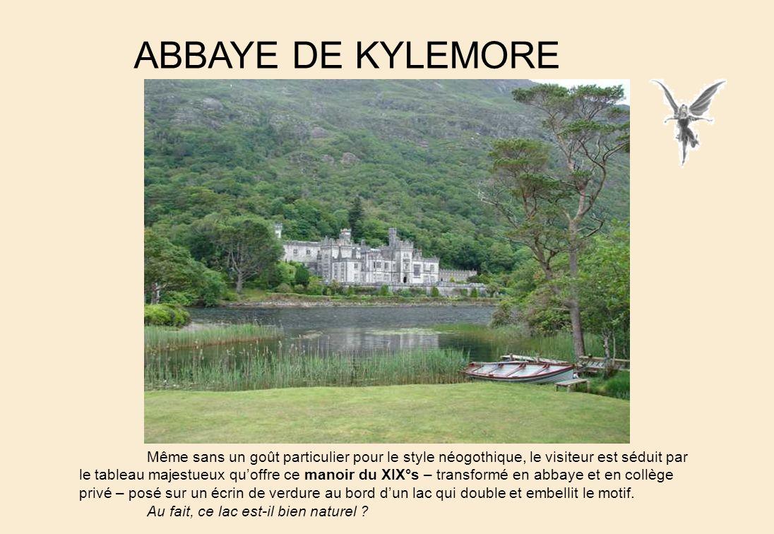 LAbbaye de Cong Entre les lougs Corrib et Mask, le charmant village de Cong, siége des rois du Connaught au VII°s. possède une abbaye reconstruite au