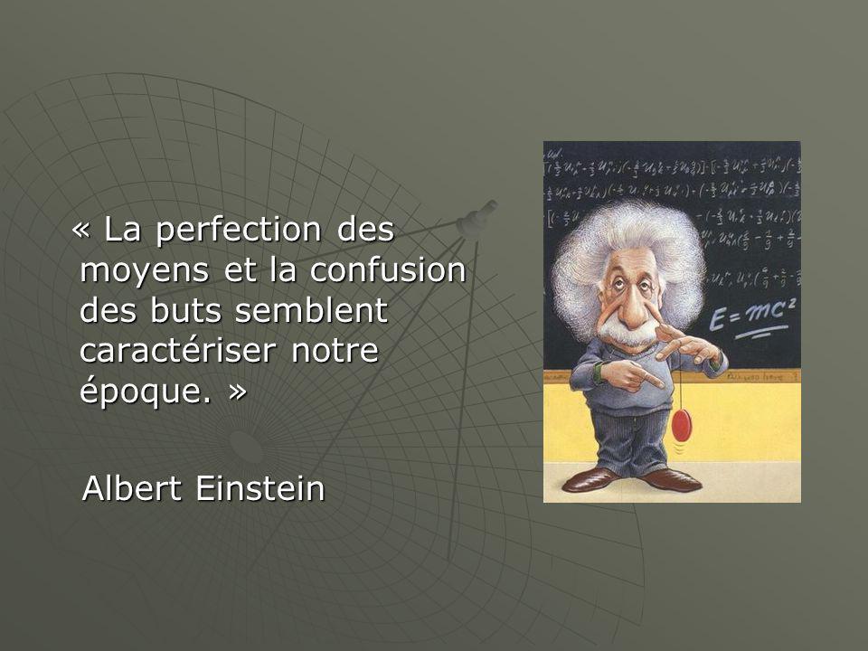 « La perfection des moyens et la confusion des buts semblent caractériser notre époque.