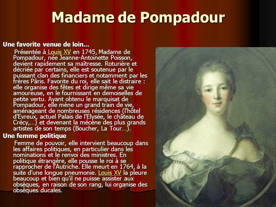 Madame de Maintenon Venue de rien Née Françoise d'Aubigné, Madame de Maintenon connaît la pauvreté dans sa jeunesse. Mariée à Scarron, poète génial ma
