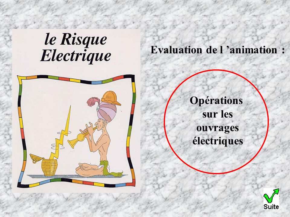 Evaluation de l animation : Opérations sur les ouvrages électriques
